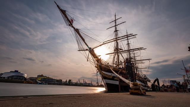 Hamburg hafen - Sailing vessel